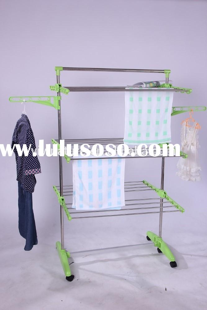 Hanging Clothes Drying Hanger Laundry Rack with storage shelf