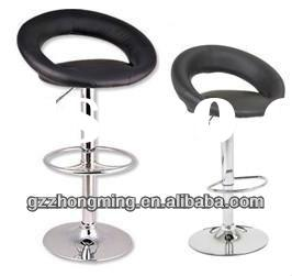 Modern Leather Moon Bar Chair/Leather Bar Stool Furniture Bar Stools For Sale ZM-04