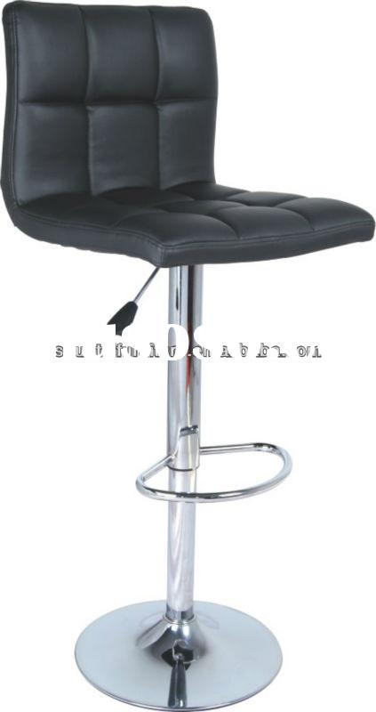 Modern PU leather swivel adjustable bar stools/high quality bar stools with backrest & footrest