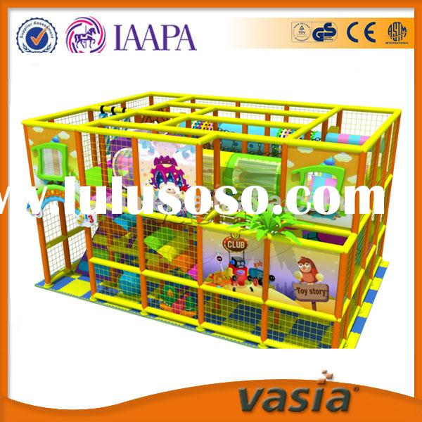 Plastic LLDPE Indoor Playground, commercial used toddler ocean soft indoor playground equipment for