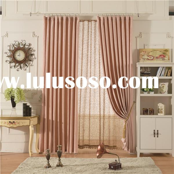 Pure plain color chenille good texture shade best price curtain design for bedroom
