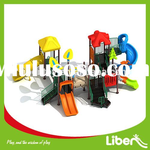 Toddler plastic outdoor playground slide equipment for kids school and amusement park