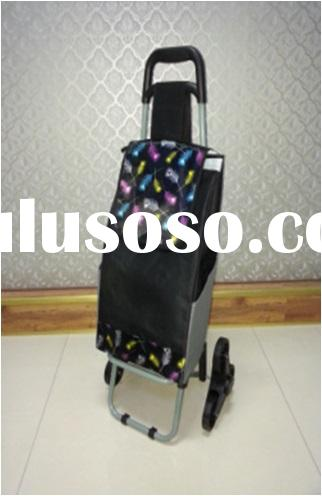 colorful personal folding portable shopping cart with wheels