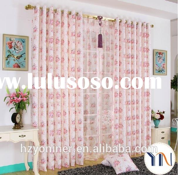 elegant flora print curtain for ladies' bedroom ladies's best choice china curtain m