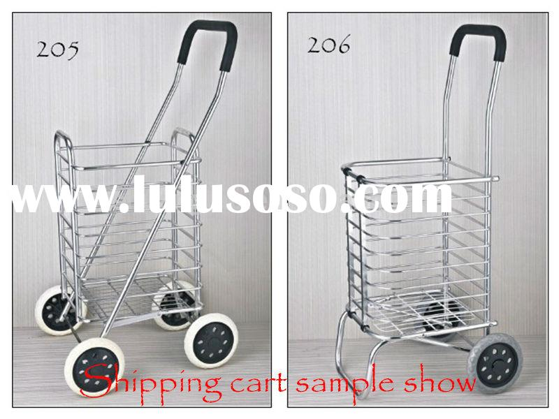 folding shopping cart with wheels,Aluminum alloy shopping cart(low price)