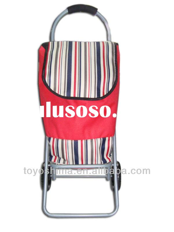 portable folding trolley shopping cart with wheels