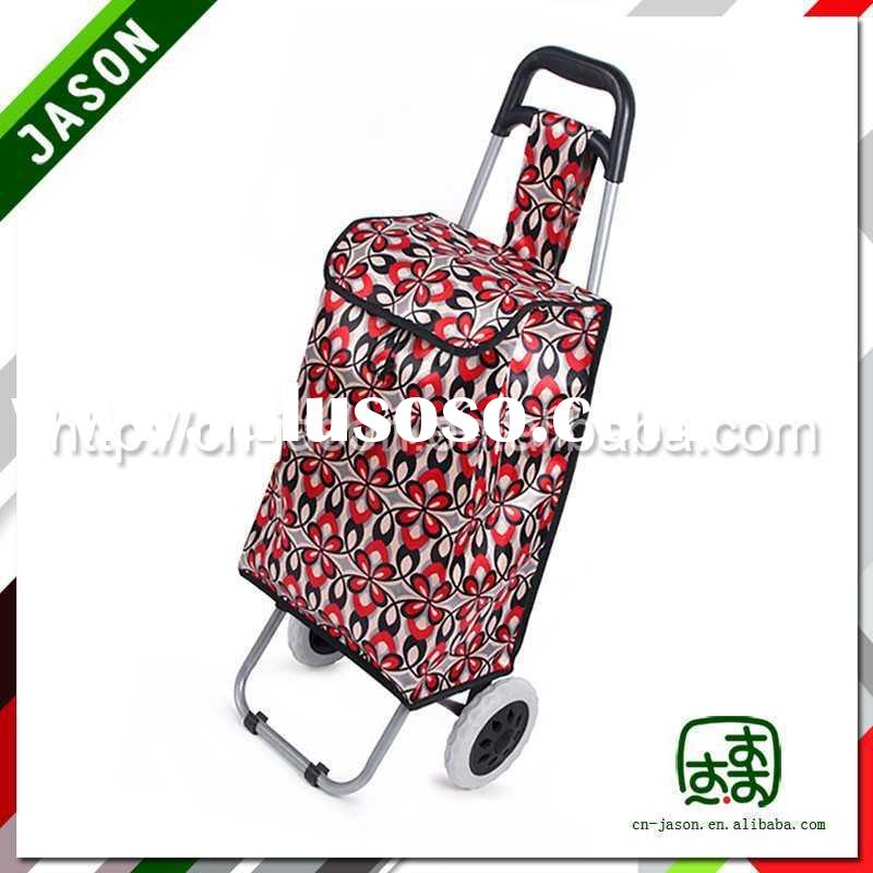 steel luggage cart folding portable shopping cart with wheels