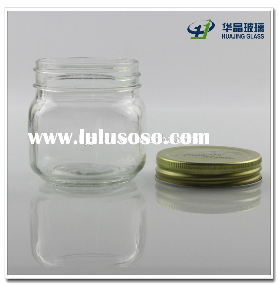 200ml empty glass honey mason candy jar with metal lid wholesale
