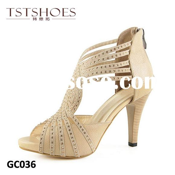 2014 Cheap PU Women Party Shoes High Heel Roman Sandals Platform Summer High Heel Shoes Fashion Stra
