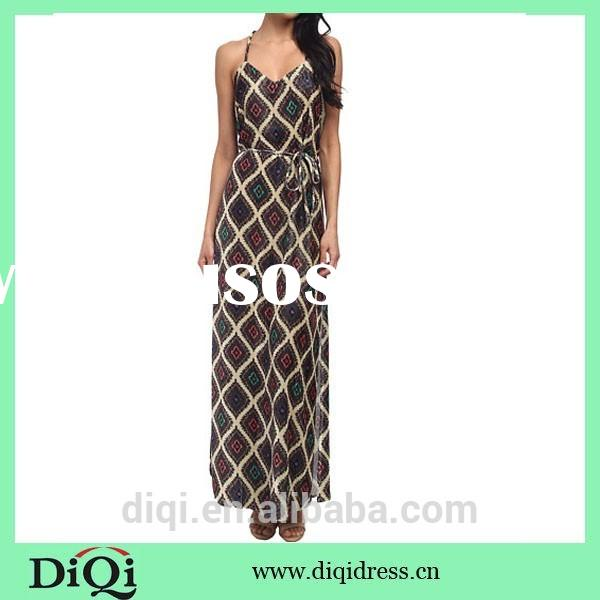 2015 elegant women long dress dinner dress for party women printing dress for summer