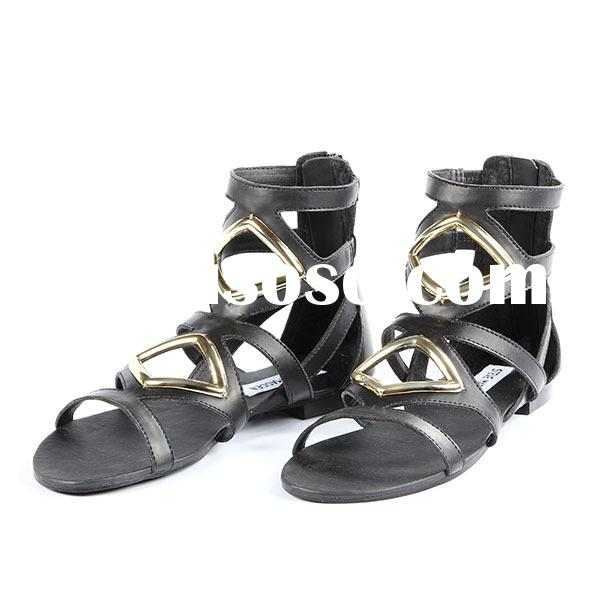 2015 new style ladies casual fashion flat sandal shoes