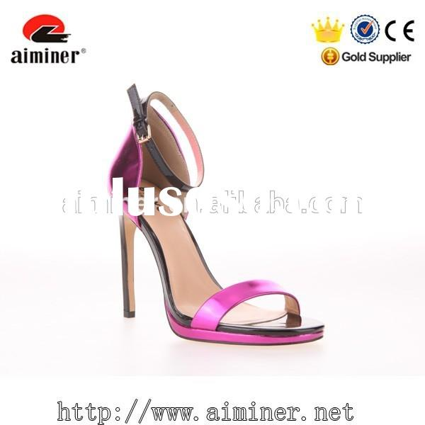 Aiminer china brand new design stiletto high heel sandal women