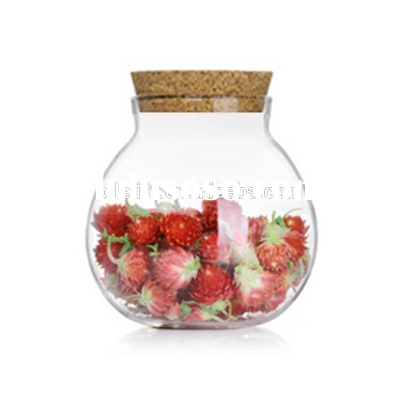 Bamboo Lid Glass Candy Jars/Glass Jars with Lid