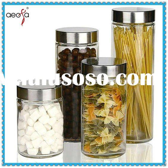 Come in-! Rich styles food pasta candy tea storage glass jar with lid