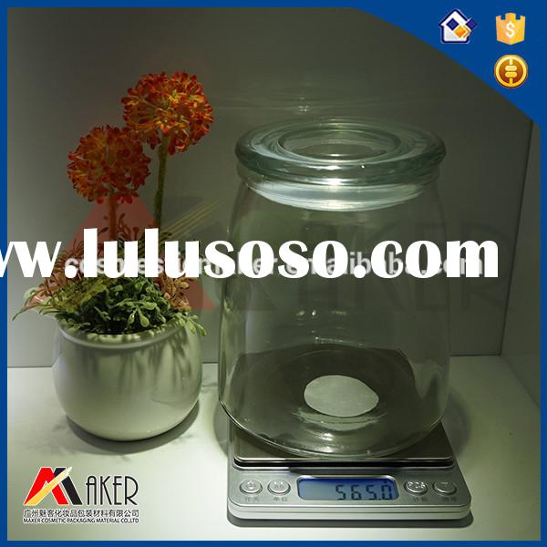 Food candy glass jar with lid