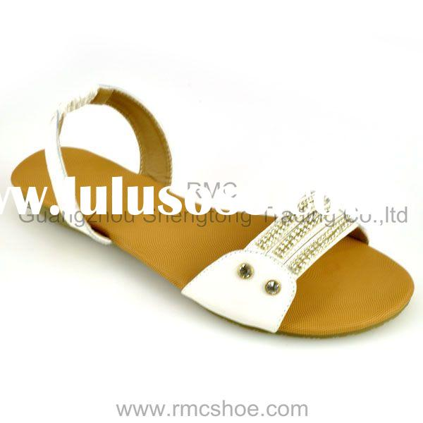 High quality flat ladies women's sandal shoes