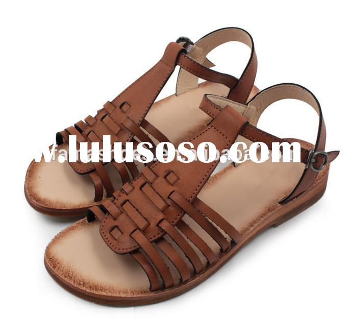 Latest shoes style wholesale lady flat sandals for ladies picture