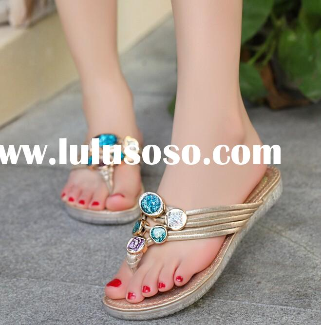 M40206C 2015 Summer new fashion casual ladies flat sandal shoes