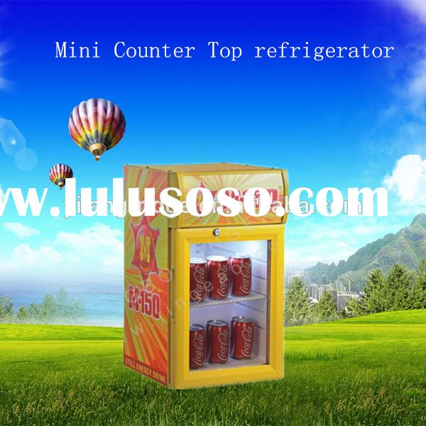SC-21BP/B Glass Door Mini Bar Fridge Beer Bottle Cooler Fruit Display Chiller with Single Door