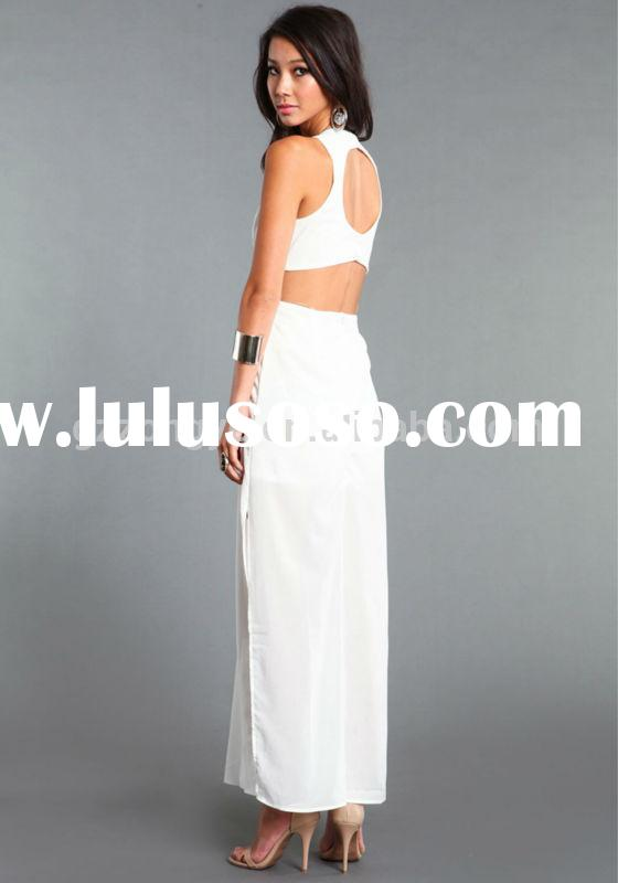 White Party Dresses for Women Elegant Chiffon Evening Dresses Long