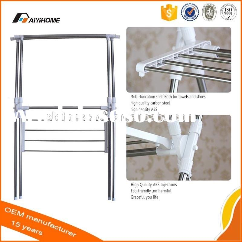 X Shape Free Standing Foldable Metal Bathroom Towel Rack