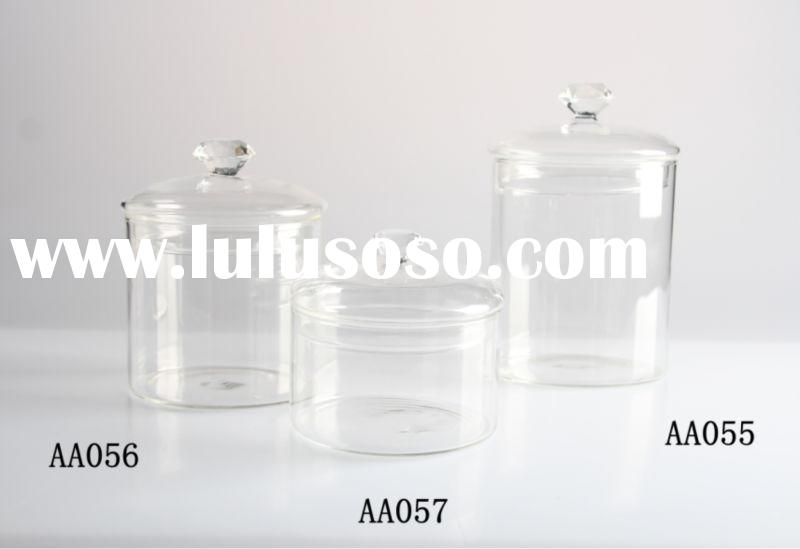 clear glass candy jar with lid ,Storage Bottles & Jars