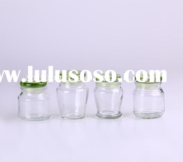 mini glass candy jar with glass lid