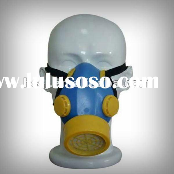 2015 high quality gas mask TPR frame half face gas mask activated carbon filter military chemical ga