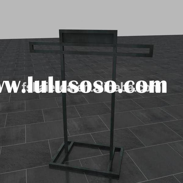 Elegant retail store metal display easel stand