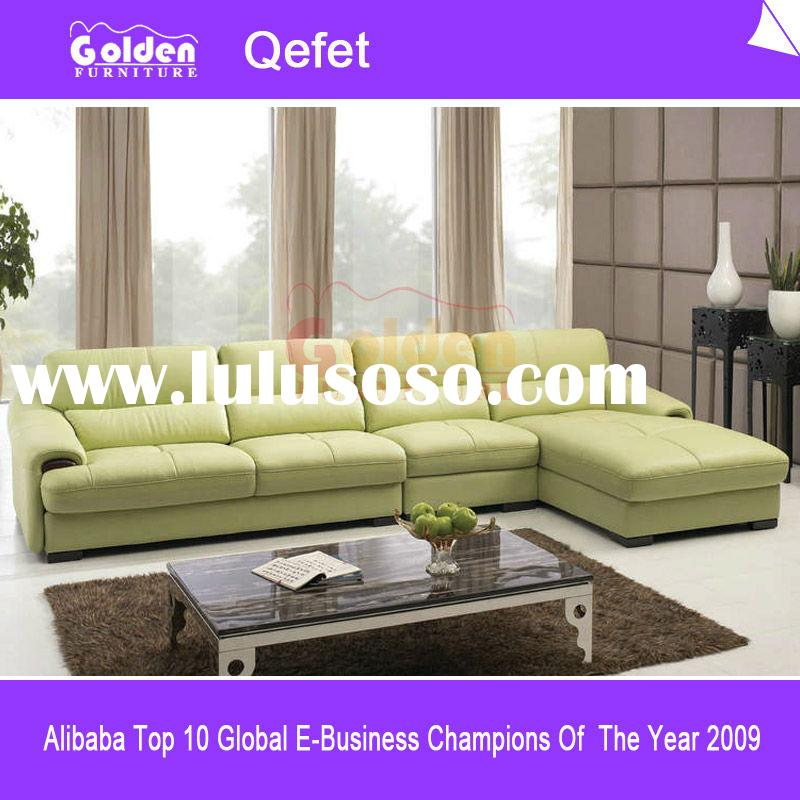 Foshan Living room Furniture Contemporary style italy leather sofa C048