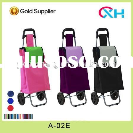 Grocery folding shopping cart trolley bag with 2 wheels