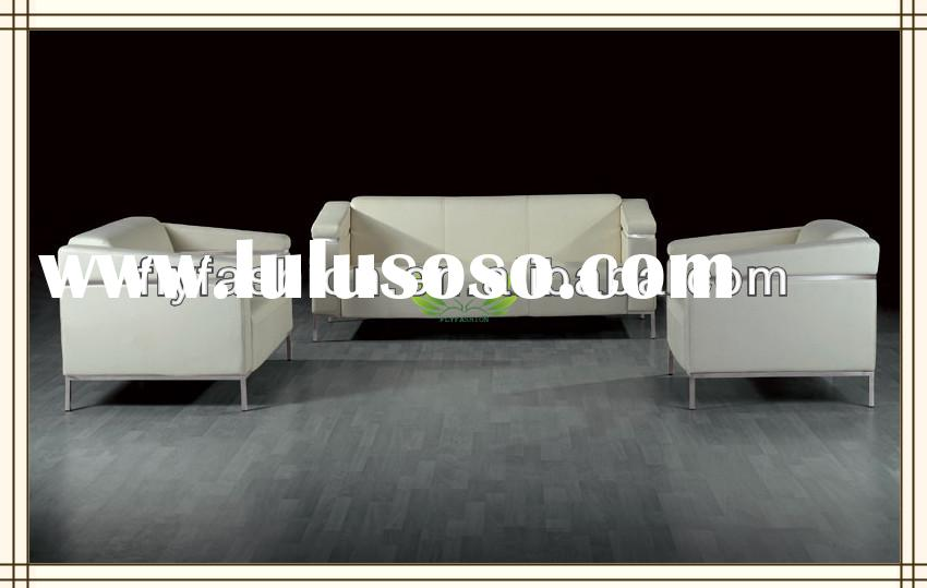 Hot sale white luxury leather modern office sofa set /sofa bed / office couch