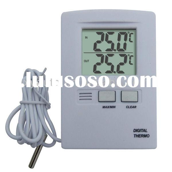 Indoor Digital Max Min Outdoor Thermometer with Probe