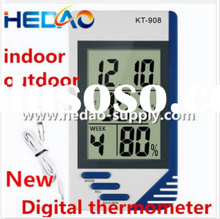 New Best Selling Products Large Display Lcd Display Wall Wireless Thermometer Indoor Outdoor