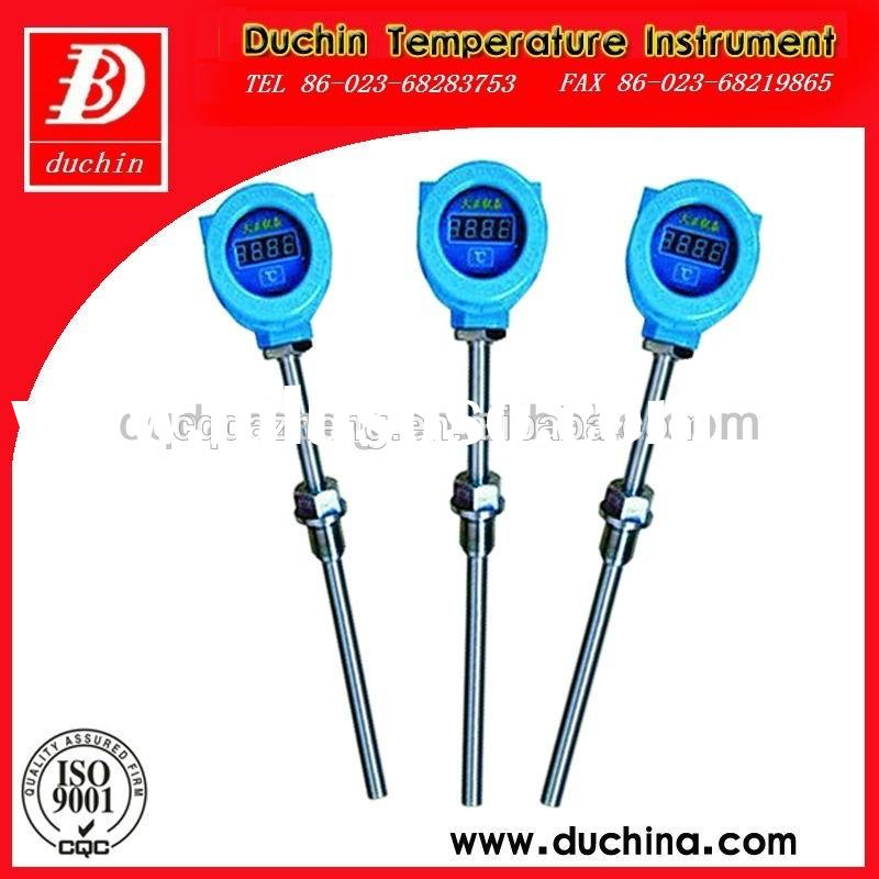 S type thermocouple with digital thermometer and stainless steel probe