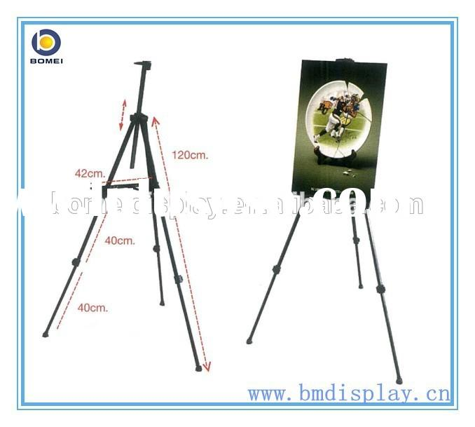 Telescopic Easel Tripod Display Stand, Folding metal black easel display stand
