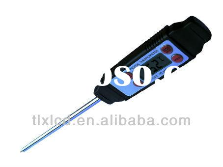 Waterproof digital food thermometer with stainless probe