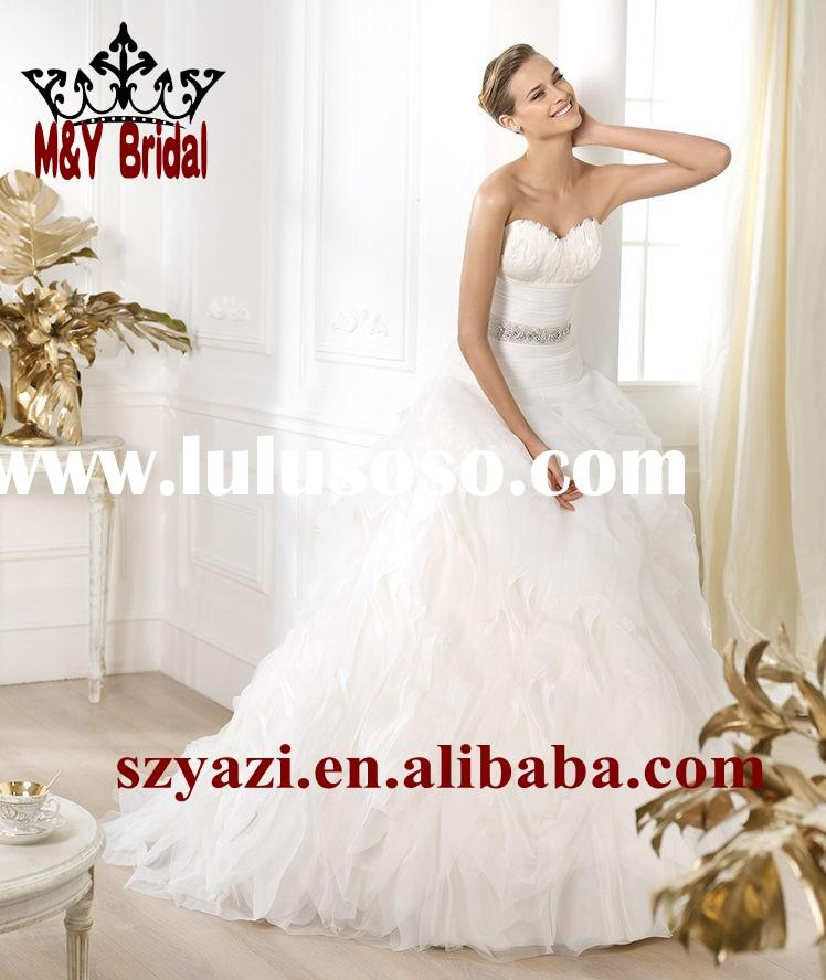 White Feather New Arrival Ball Gown Ruffles Elie Saab dress Wedding Dresses 204