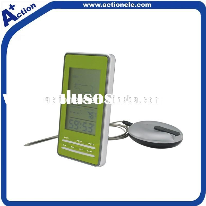 Wireless digital cooking thermometer with probe and timer