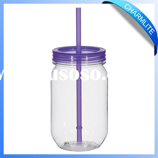 cheap mini mason jar plastic mason jars glass mason jars with plastic lid (MC010)