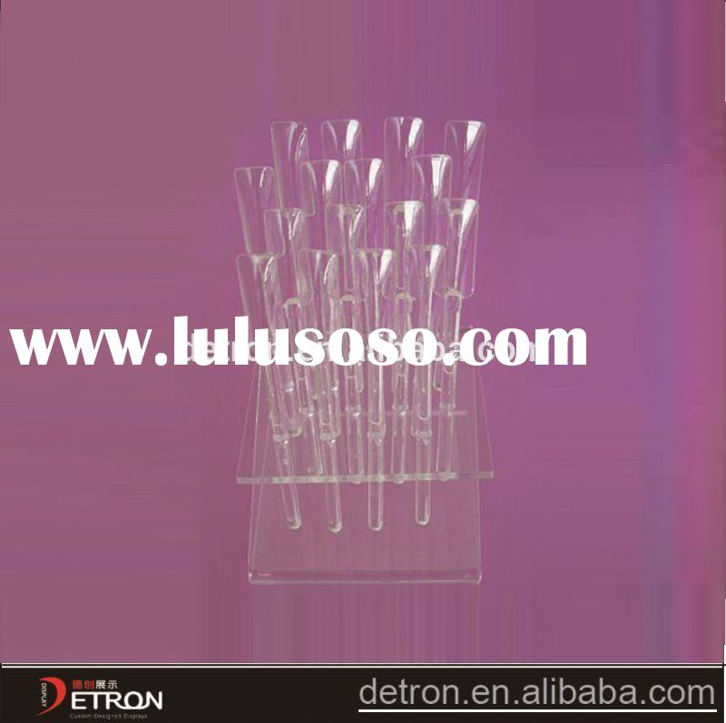 clear acrylic nail art polish display stand