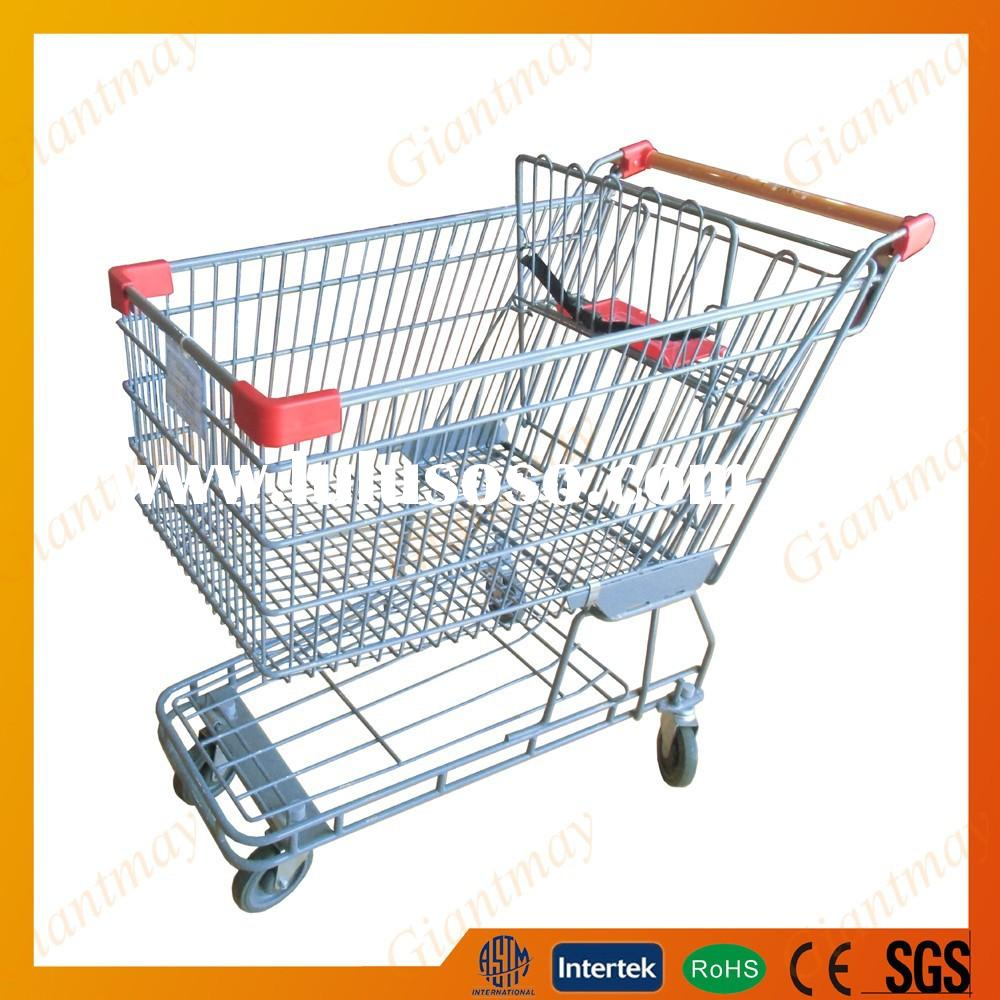 shopping trolley cart with rolling wheel