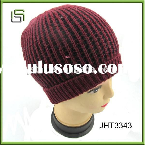 2015 Hign quality crocheted knitted winter hat for women
