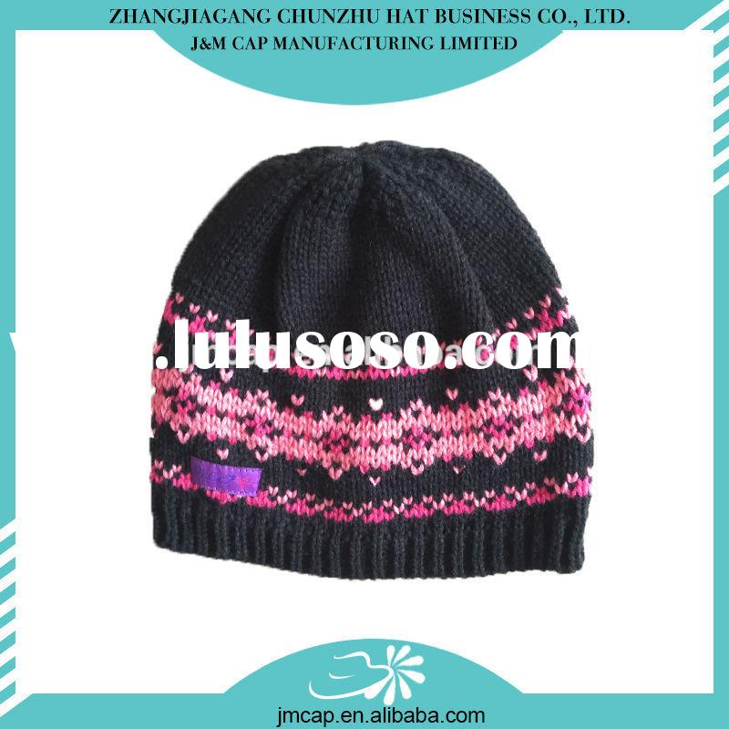 Comfortable China factory winter crocheted hat for women