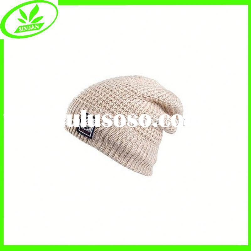 Crochet acrylic cap warm winter hats for women