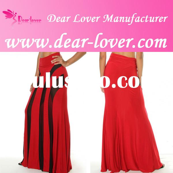 Free Shipping New Strapless Mesh Maxi Dresses red wedding gowns