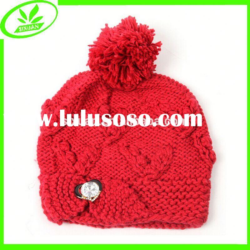 Skull winter crochet knit hats for women