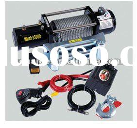 Small electric cable winch 12v, electric anchor winch 9500lbs