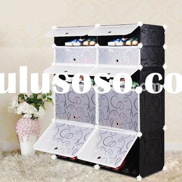 2014 Popular Customized DIY Plastic Shoe Racks for Closets