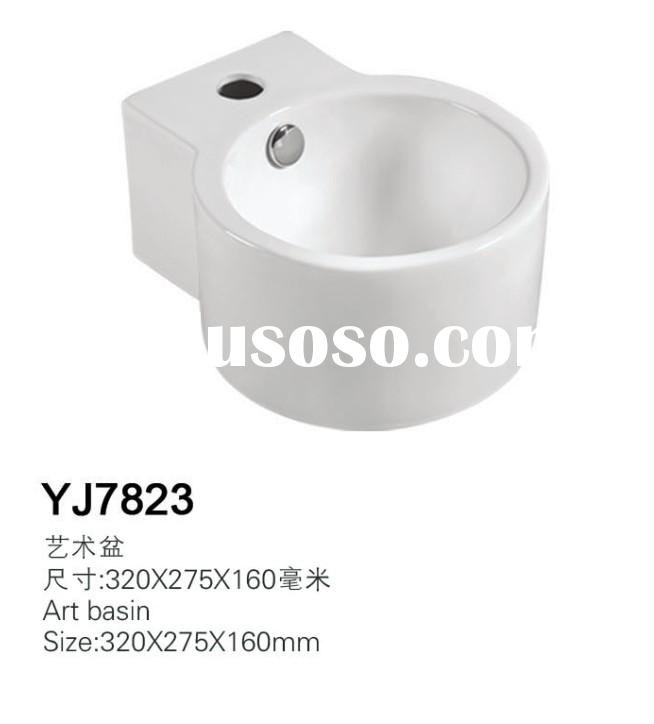 7823 Ceramic Bathroom Mini Small Save Spaces Wall hung basin sink cloakroom wash basin